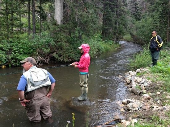Todd massey of fagan 39 s shows us how to love the river for Red river new mexico fishing