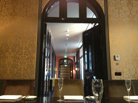 The College Hotel: Corridor leading to bar