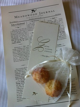 Meadowood Napa Valley: Part of turn-down service