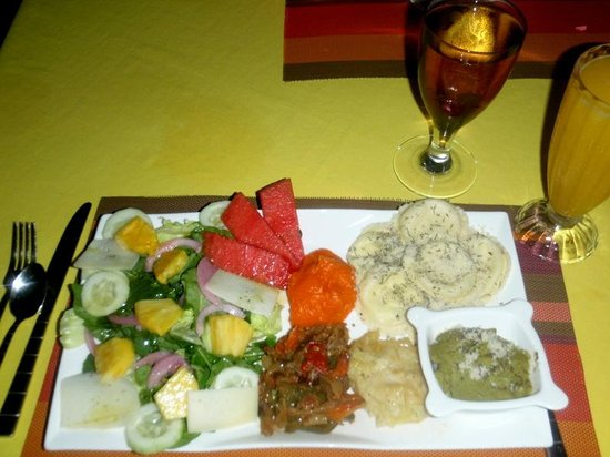 Vegetarian meal picture of hostal casa amarilla punta for Hostal casa amarilla