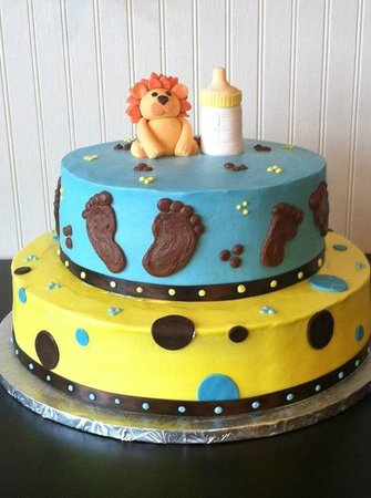 Dade City Photo: Lion and Baby Bottle Baby Shower Cake
