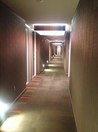 Aloft Cleveland Downtown: corridor to rooms
