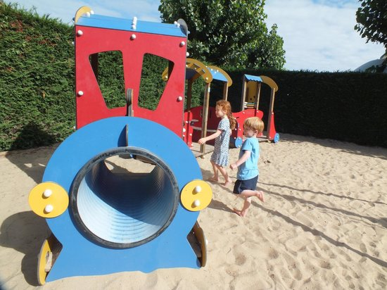 Play area around the site (swings here too) Picture of Camping Le Bois Joly, Saint Jean # Camping Du Bois Joly