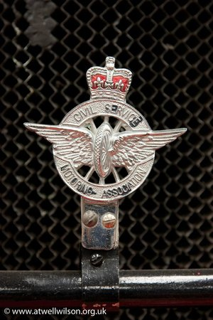 Civil service motoring association badge picture of for Wilson county motors service