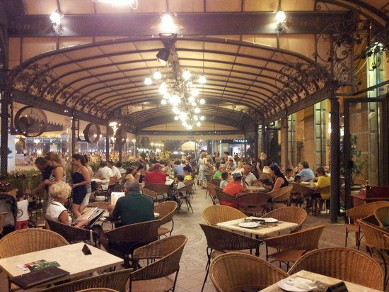 Macedonia square from the restaurant picture of pelister for Terrace 33 menu