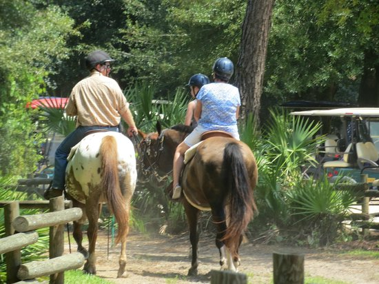 The Campsites at Disney's Fort Wilderness Resort: Horse back rides around the resort