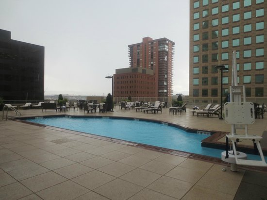 outdoor section of the pool picture of the westin denver. Black Bedroom Furniture Sets. Home Design Ideas