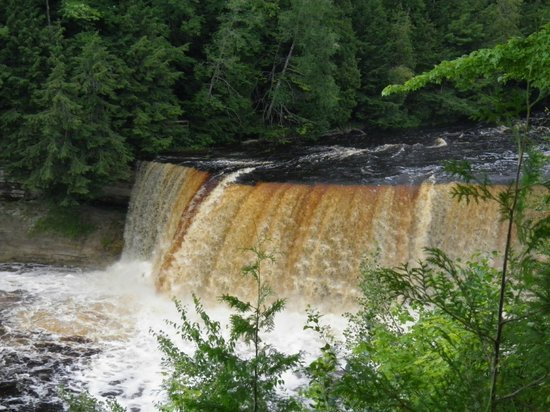 What a view what a sight picture of tahquamenon falls Cabins near tahquamenon falls