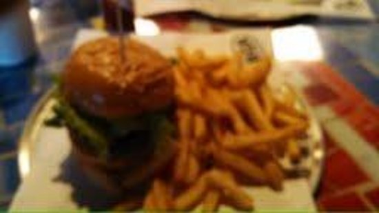 BGR Burger Joint: The plain burger, sorry about the quality must have shook the camera. Oh well I have to go back,