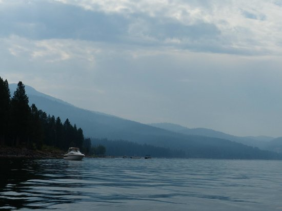 Distant mountains for Lake almanor fishing report