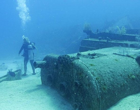 Exploring Wreck Of The Gamma Picture Of Living The Dream Divers Seven Mile