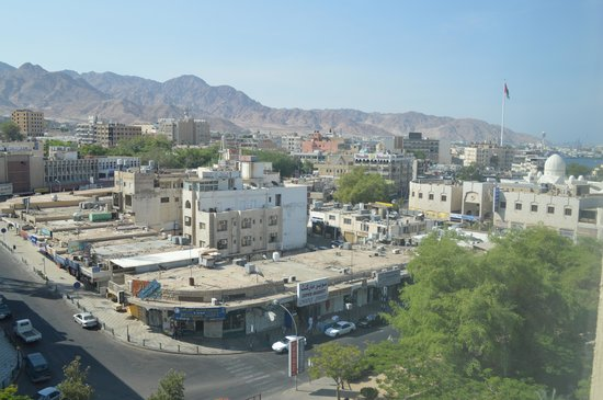 DoubleTree by Hilton Hotel Aqaba: Downtown Aqaba from our room