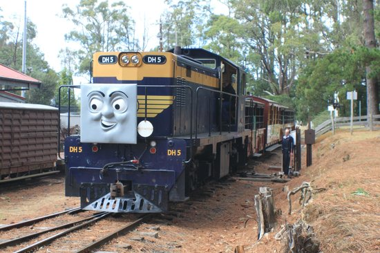 Thomas the Tank engine and his friends only 100m from The Heart of Emerald accommodation