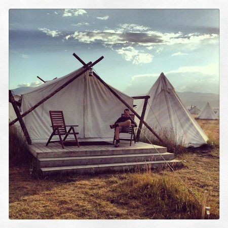 Yellowstone Under Canvas Photo: Room with a view