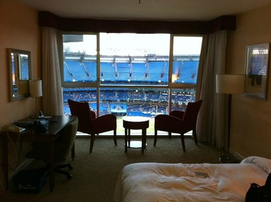 View Of Blue Jays Field From Our Room With Dome Open Picture Of Renaissance Toronto Downtown