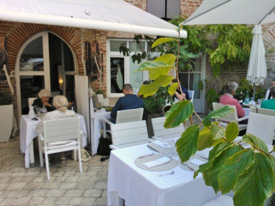 Delightful outside terrace picture of la maison sur la place penne d 39 a - La maison sur la place ...