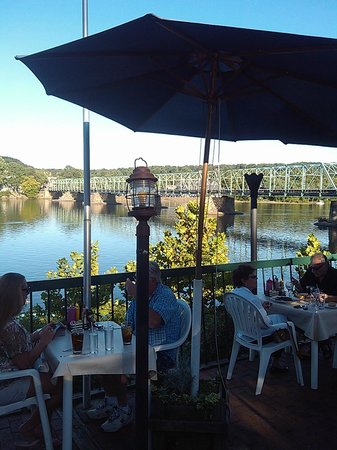 View Of The Delaware River From Outdoor Seating Area Picture Of The Landing