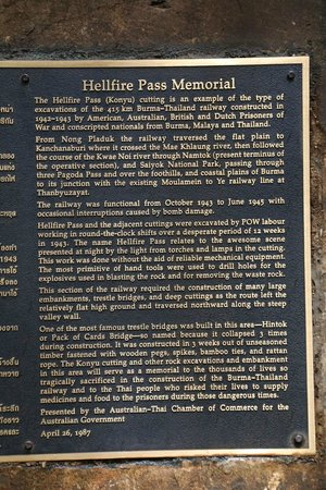 plaque - Picture of Hellfire Pass Memorial Museum and ...