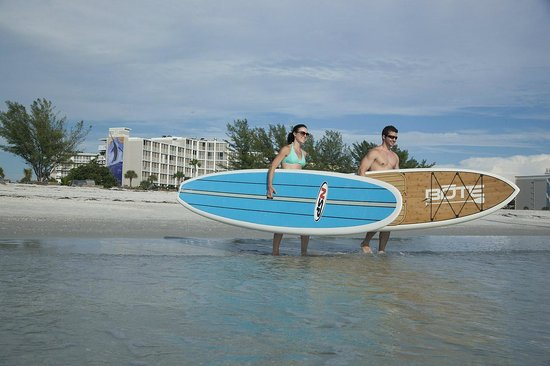 Guy Harvey Outpost, a TradeWinds Beach Resort: Stand-up paddleboard along the shore