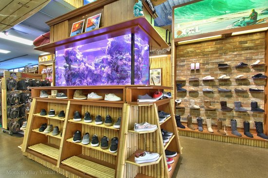 Front counter picture of on the beach surf shop for Fishing stores nj