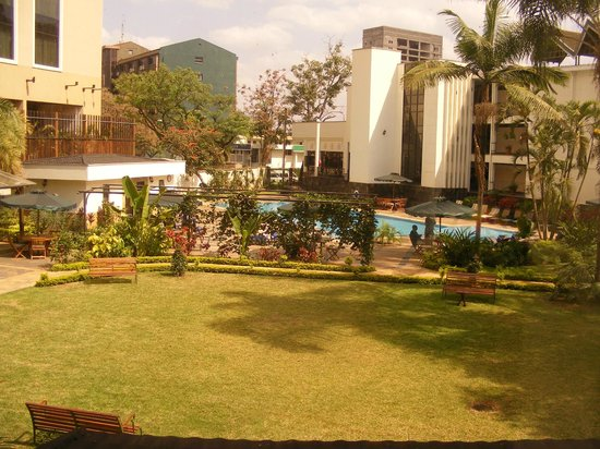 Jacaranda Hotel: View from room to pool