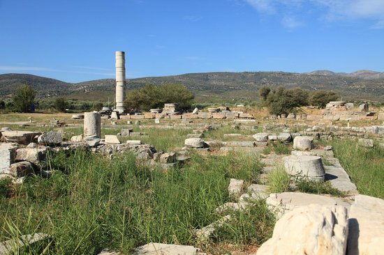 The Site -- the Temple of Heraion at the Background ...