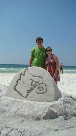 Seaside, FL: Me, the wife and our Louisville Cardinal Bird.