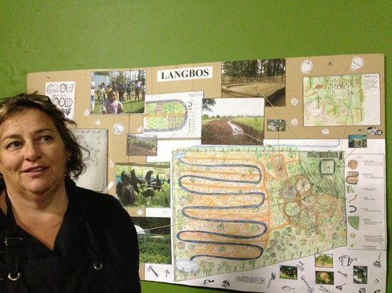 Hazel's Organic Restaurant: Hazel has built a garden using permaculture principles in one of the townships