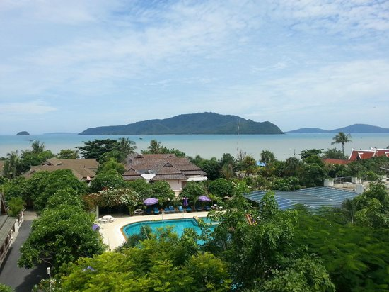 Chalong Beach Hotel and Spa: View from room (the light water becomes mud when the tide goes out)