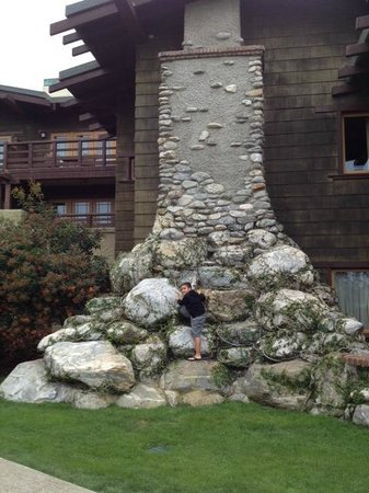 The Lodge at Torrey Pines: Huge stone chimney