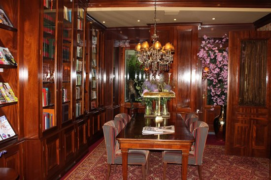 Hotel Estherea: Downstairs library