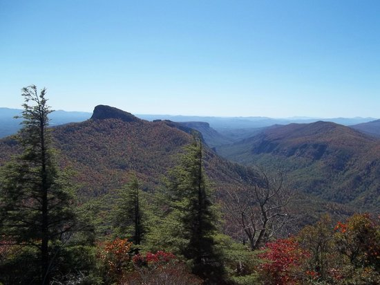 Table rock view from hawksbill picture of hawksbill for Table rock nc cabins