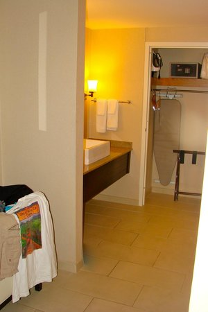 Hyatt Regency St. Louis at The Arch: outer vanity area & closet