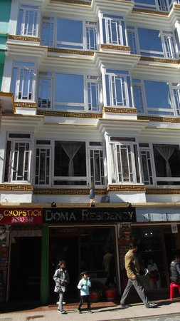 Doma Residency: Hotel facade(full view) from the street