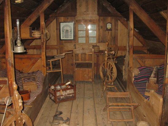Inside wooden house picture of national museum of for Wooden house inside