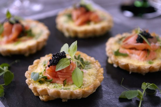 Salmon and caviar canapes picture of bumpkin notting for Canape with caviar
