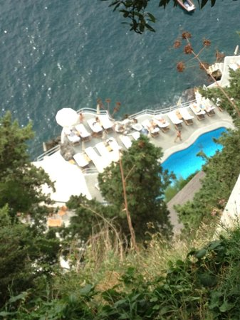 Santa Caterina Hotel: Beautiful private pool area and access to the ocean