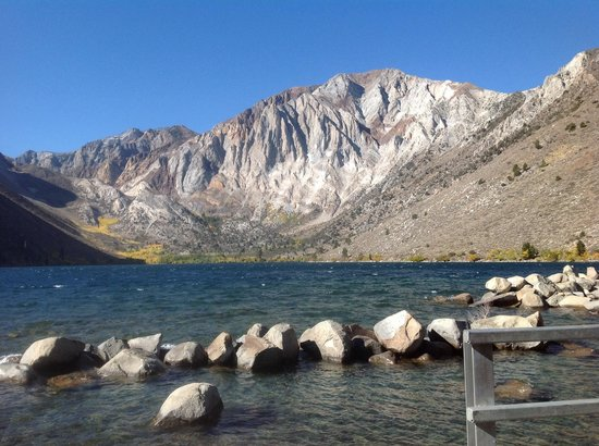 Our cabin kitchen dining room picture of convict lake for Convict lake fishing report