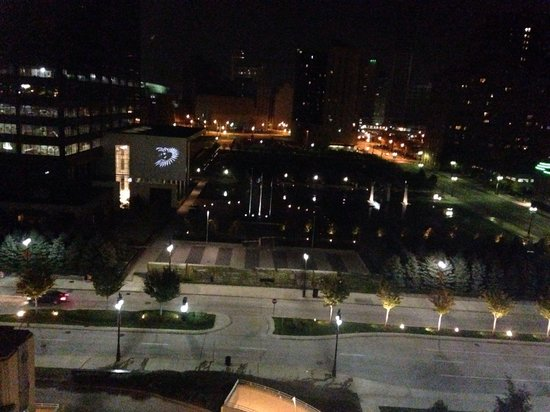 MGM Grand Detroit: Night out our 8th floor window.