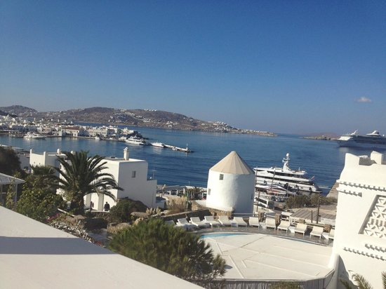 View From Breakfast Bar Picture Of Porto Mykonos Hotel