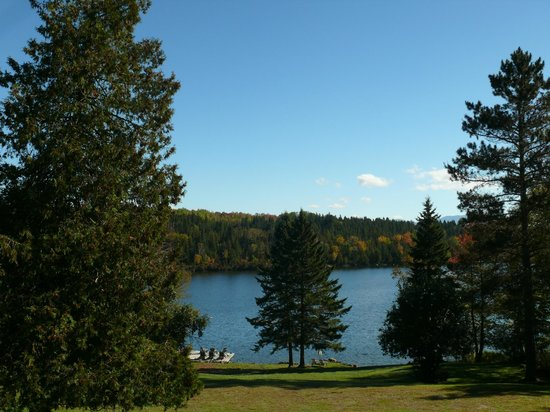 Hunter Cove Cabins on Rangeley Lake: View from porch of cabin # 6