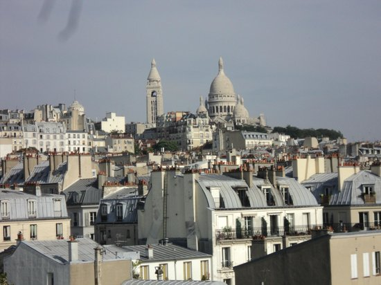 lovely views from the roof top terrace picture of citadines montmartre paris paris tripadvisor. Black Bedroom Furniture Sets. Home Design Ideas