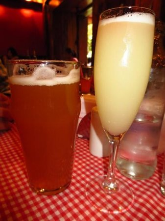 ... : Ice cold...literally....unfiltered draft beer and a pisco sour