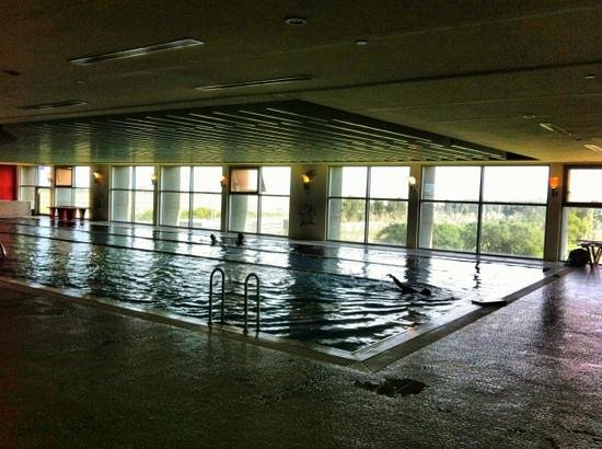Lap pool with co ed steam room and lounge chairs foto van hotel novotel taipei taoyuan - Furniture wereld counter ...