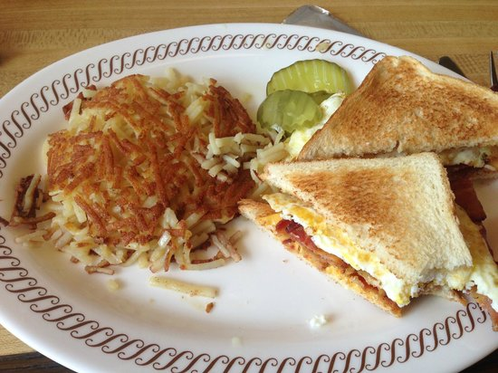 Image Waffle House Bacon Egg And Cheese Sandwich Download