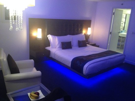 Room With Blue Mood Lighting