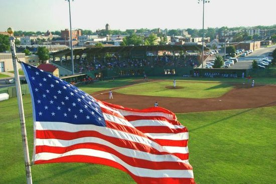 El Dorado (KS) United States  city images : El Dorado Photo: American Flag over McDonald Baseball Stadium