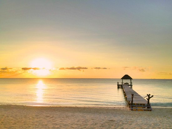 Viceroy Riviera Maya: Sunrise over the private pier