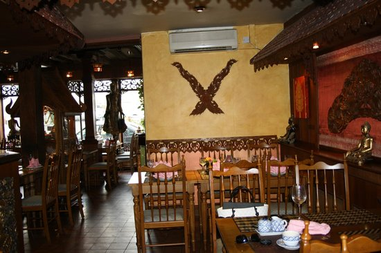 Thai teak wood decor picture of siam cottage