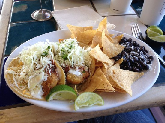 Classic fish taco plate for Rubios fish tacos